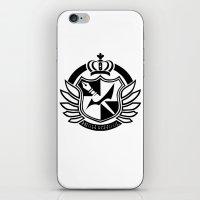 dangan ronpa iPhone & iPod Skins featuring Dangan Ronpa High School logo  by Prince Of Darkness