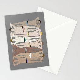 Sunbathers - Retro Male Swimmers Stationery Cards