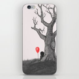 Girl with a Red Balloon iPhone Skin