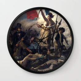 Liberty Leading the People by Eugène Delacroix (1830) Wall Clock