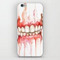 teeth iPhone & iPod Skins featuring Teeth  by Monica Loya