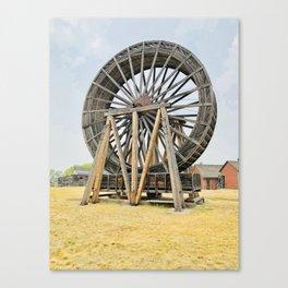 Fort Steel waterwheel Canvas Print
