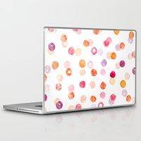 polka Laptop & iPad Skins featuring Polka by Eleanor Amelia