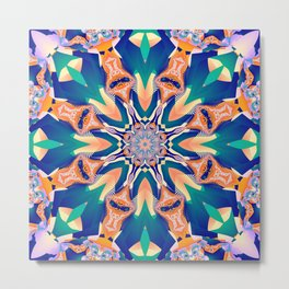 Abstract kaleidoscope with tribal patterns Metal Print