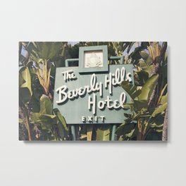 Beverly Hills Hotel Metal Print