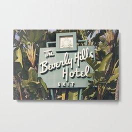 Beverly Hills Hotel Metal Print