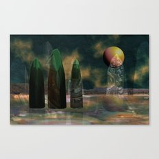 Strange reflections of an uncertain future Canvas Print