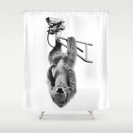 Closed-circuit Sloth Shower Curtain