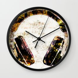 Headphone Rock Wall Clock