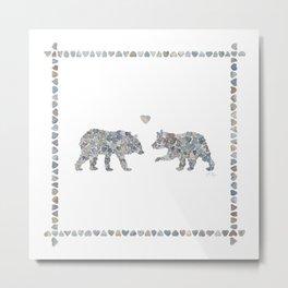 Bears by Love Rocks Me Metal Print