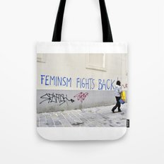 Feminism fights back Tote Bag