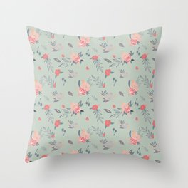Floral Pattern 111-24CW3 Throw Pillow