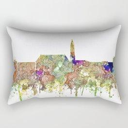 Cheyenne,Wyoming Skyline SG - Faded Glory Rectangular Pillow