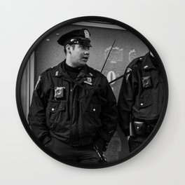 Two Policemen Wall Clock