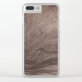 Ghost Mountains Clear iPhone Case