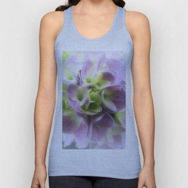 Blue Hydrangea Flower A422 Unisex Tank Top