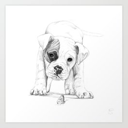 Patch, A Boxer Puppy :: Shelter Dog Project Art Print