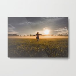 Sunset of Latvia 3. || Misty Evening. || Europe Destination. || Moody. || Latvia. || Madara Travels. Metal Print