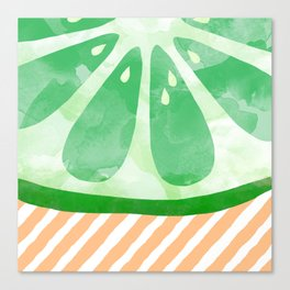 Lime Abstract Canvas Print