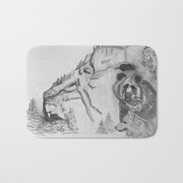 The Fairytale about the Wolf, Bear, and the Lion Bath Mat