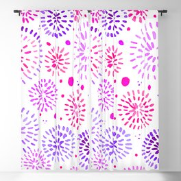 Abstract watercolor sparkles – ultraviolet and pink Blackout Curtain