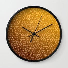 Orange Abstract Pattern Wall Clock