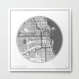 Chicago Map Universe Metal Print