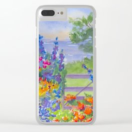 Celia Thaxter Garden at Isle of Shoals Clear iPhone Case