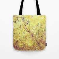yellow flower - Forsythia Tote Bag