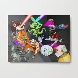 Kill the Robot Duplicates! Metal Print