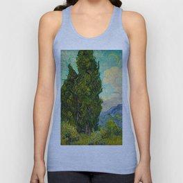 Cypresses Oil Painting Landscape Vincent van Gogh Unisex Tank Top
