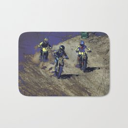 The Home Stretch - Motocross Racers Bath Mat