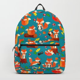 Gamer Fox Watercolor Video Game Animal Pattern Backpack