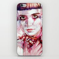 grimes iPhone & iPod Skins featuring grimes by beart24