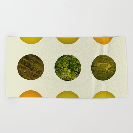 Earth Dot Pattern Beach Towel