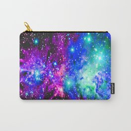 Fox Fur Nebula Galaxy Pink Purple Blue Carry-All Pouch