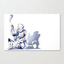Flower-bot Canvas Print