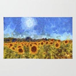 The Sunflowers Van Gogh Rug