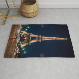 Eiffet Tower at Night Rug