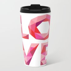 Red Faceted Love Stacked Metal Travel Mug