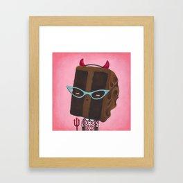 Devil's Food Cake Framed Art Print