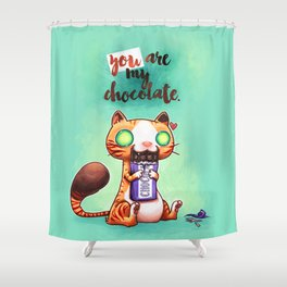 Chocolate addict Shower Curtain