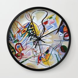 Violet Wedge, Abstract, Wassily Kandinsky, 1919 Wall Clock