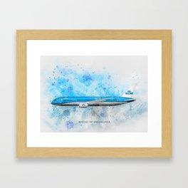 Klm Boeing 787 Dreamliner Framed Art Print