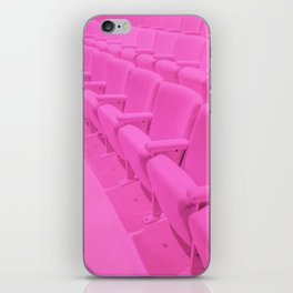 Pink Theater Seats in Palm Springs iPhone Skin