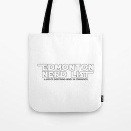 Edmonton Nerd List - From a Galaxy Far Far Away (B&W on light) Tote Bag