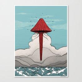 Méduse volante #5 Canvas Print