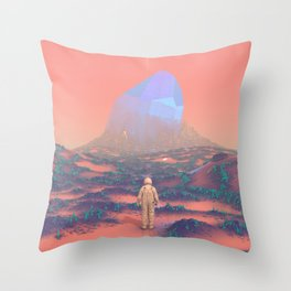 Lost Astronaut Series #02 - Giant Crystal Throw Pillow