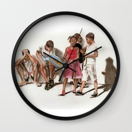 PRIDE OF BRAZIL (source photograph by Antonia Jenae' of IKONSEE Imagery) Wall Clock