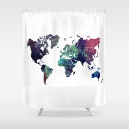 Map of the World After Ice Age Shower Curtain